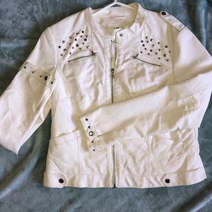 NWOT Studded Leather Jacket
